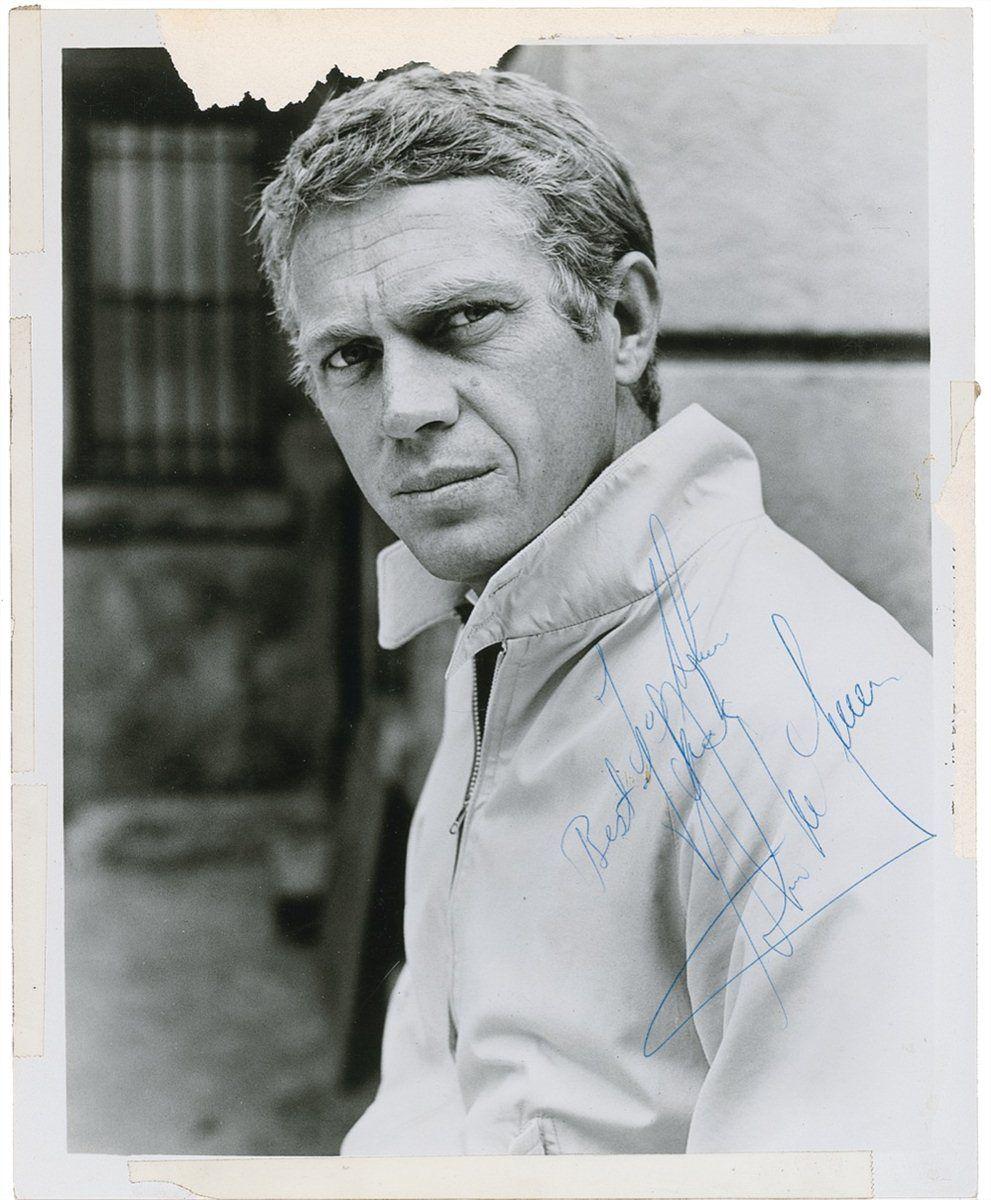 Famous Steves for steve mcqueen | autographs | pinterest | steve mcqueen