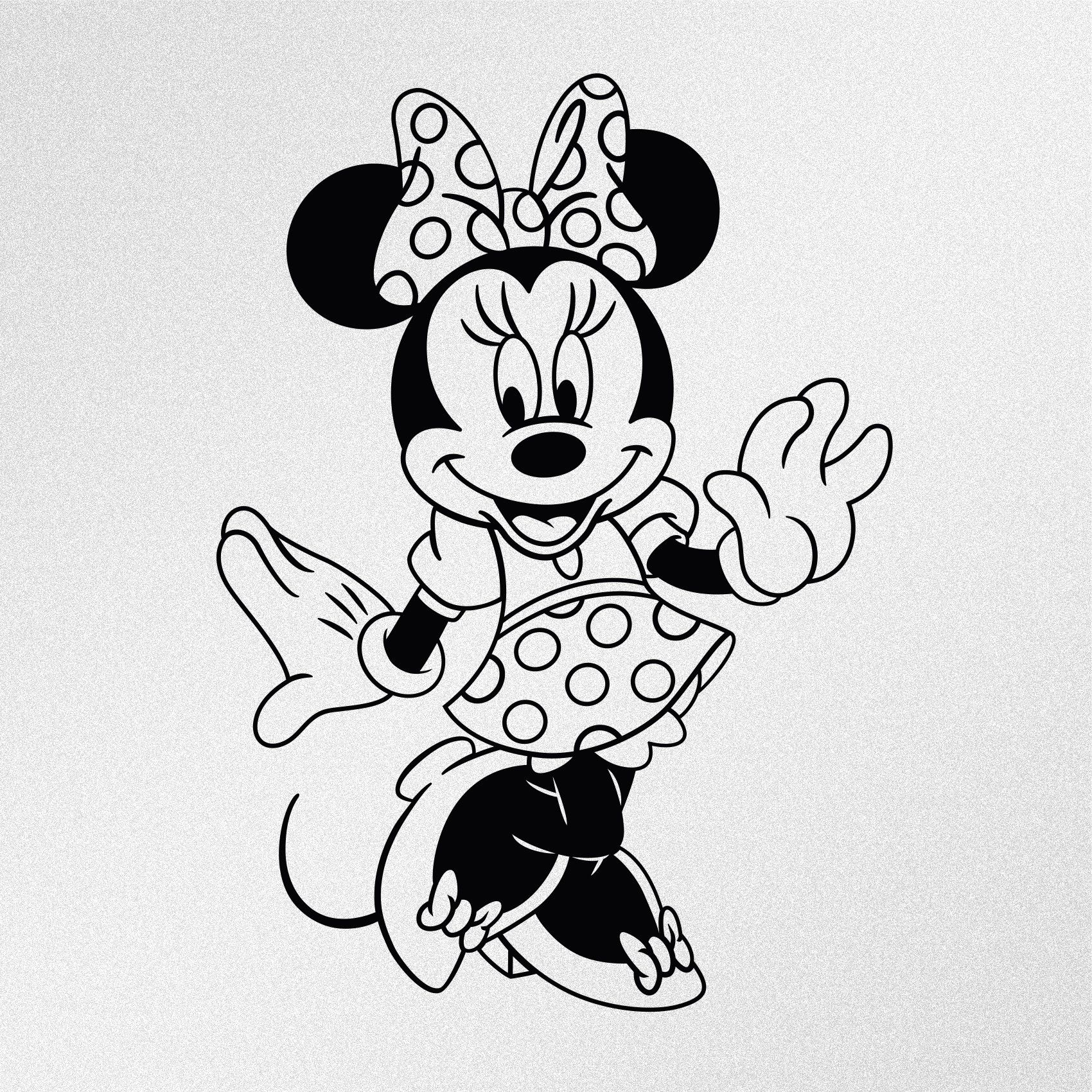 Minnie Mouse Dancing Vinyl Decal Sticker Free Disney Coloring Pages Mickey Mouse Coloring Pages Minnie Mouse Coloring Pages
