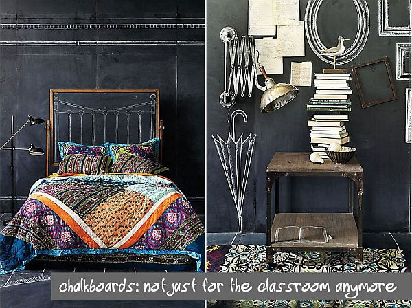 Chalkboard Madness In The Home Organization. Chalkboard Wall BedroomThe ...