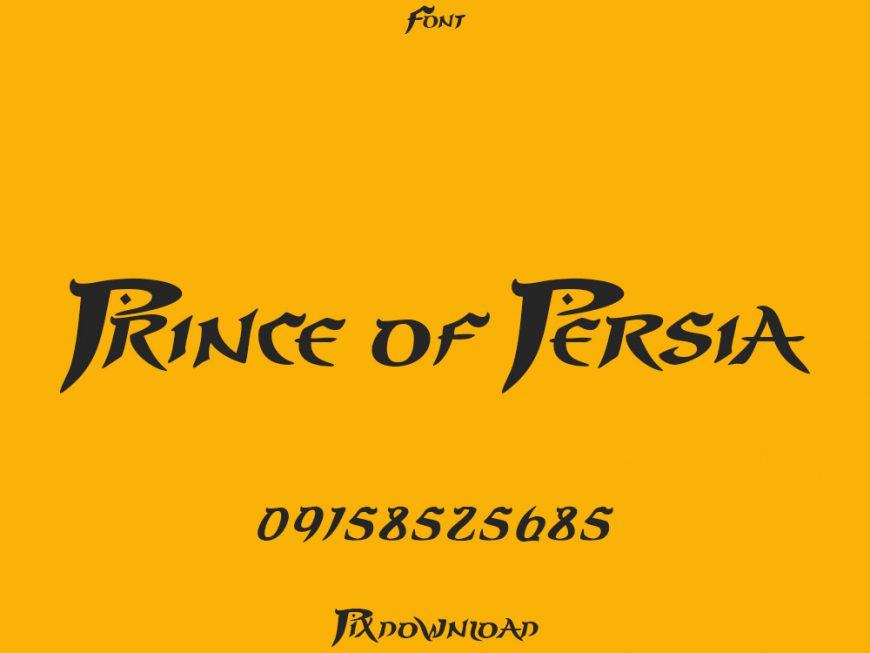 دانلود فونت Prince Of Persia Prince Of Persia Prince Persia