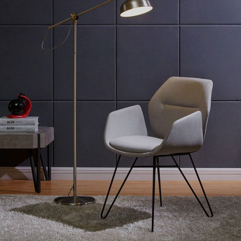 Nspire modern fabricmetal accent arm chair 403365blu