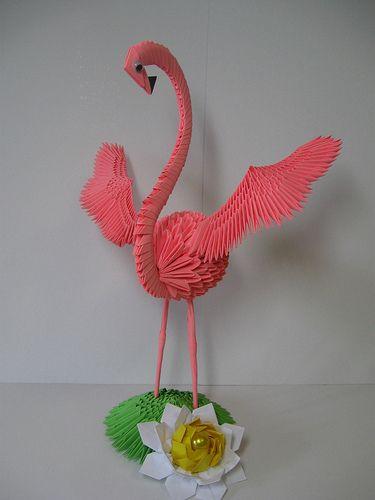 Present 3d Origami Flamingo Ronatka Found 2014 Origami