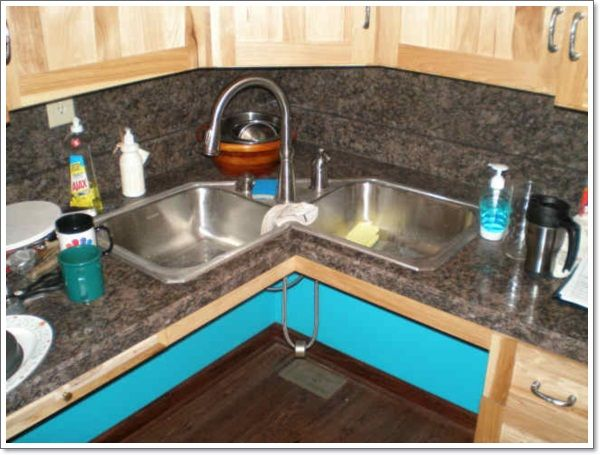 25 Corner Kitchen Sinks That Gives You Space Corner Sink Kitchen Kitchen Sink Design Corner Sink