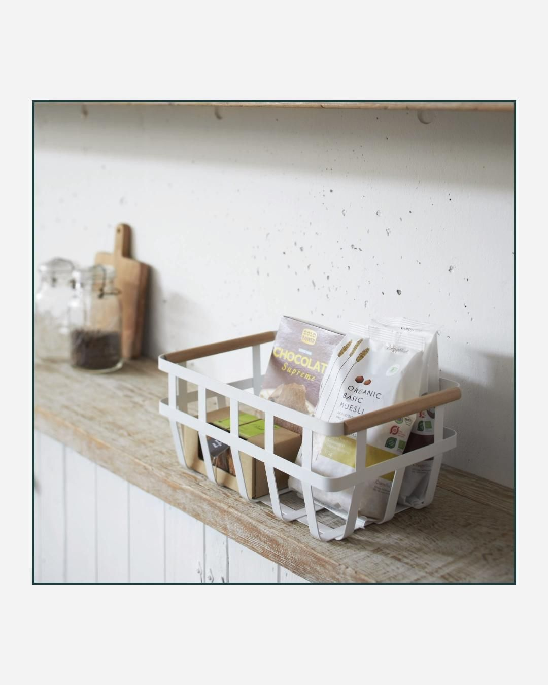 This simple, sturdy basket makes itself useful anywhere in the home, keeping loose items tidy, upright and protected.