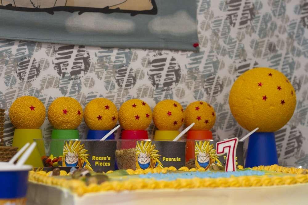 Birthday Party Ideas Photo 4 Of 19 Dragon Ball Z Birthday Dragon Ball Party Dragonball Z Party