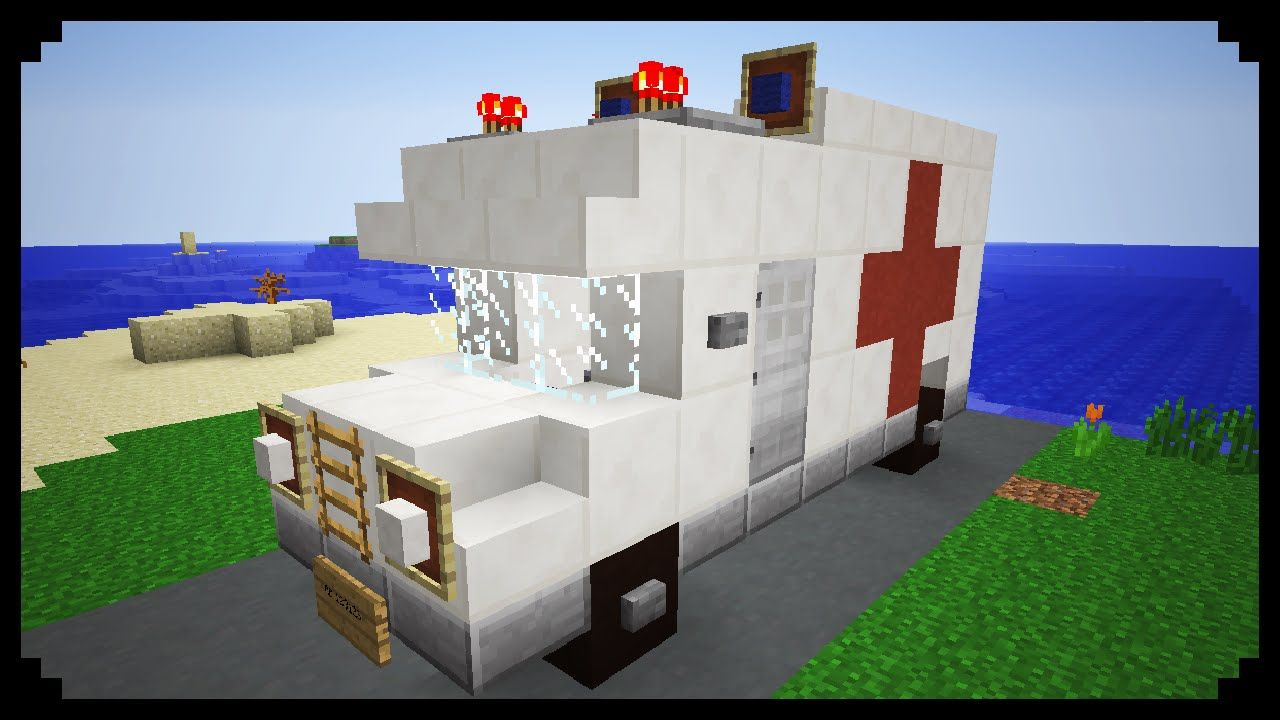 minecraft how to make an ambulance perler patterns minecraft stadt bauen minecraft stadt. Black Bedroom Furniture Sets. Home Design Ideas