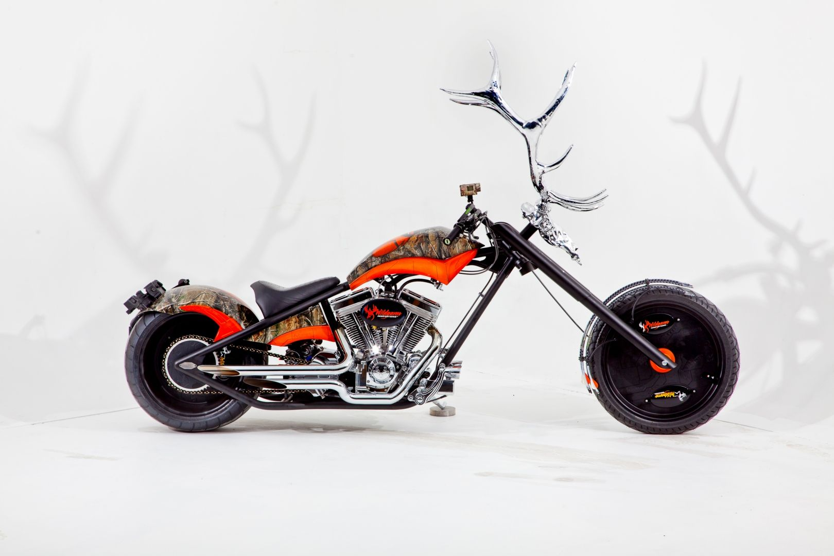 Occ choppers occ elk antler custom motorcycle photo 1