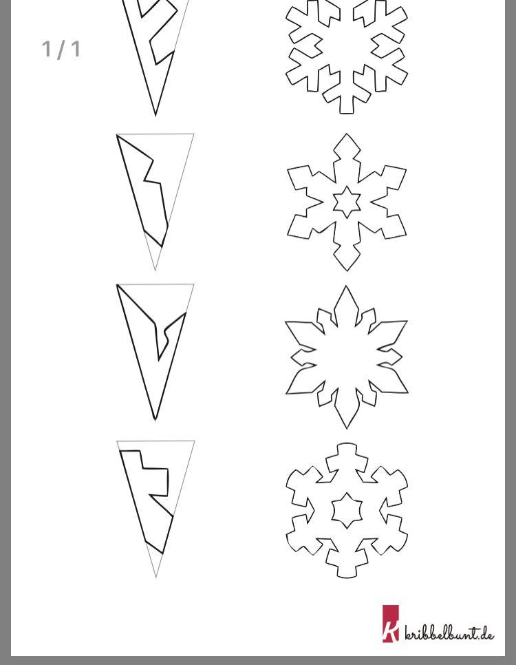 Schneeflocken Basteln Mit Kindern Aus Papier 2