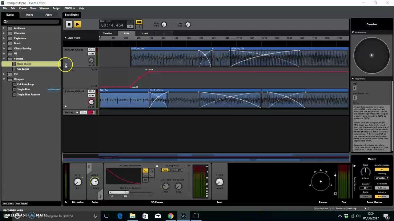 Suono 3d con fmod studio