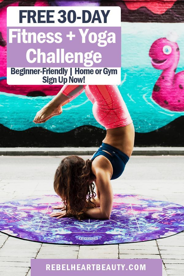 Full body fitness challenge! Beginner-friendly workouts. Includes weights, HIIT cardio, and yoga to...