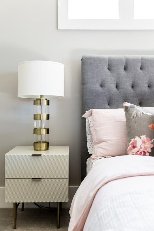a west elm audrey nightstand sits on a gray rug and is. Black Bedroom Furniture Sets. Home Design Ideas