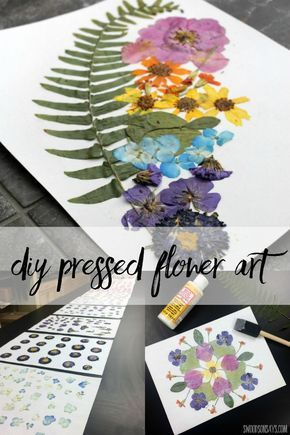 Pressing Flowers & Dried Flower Art - Try Something New Every Month -   25 nature crafts flowers