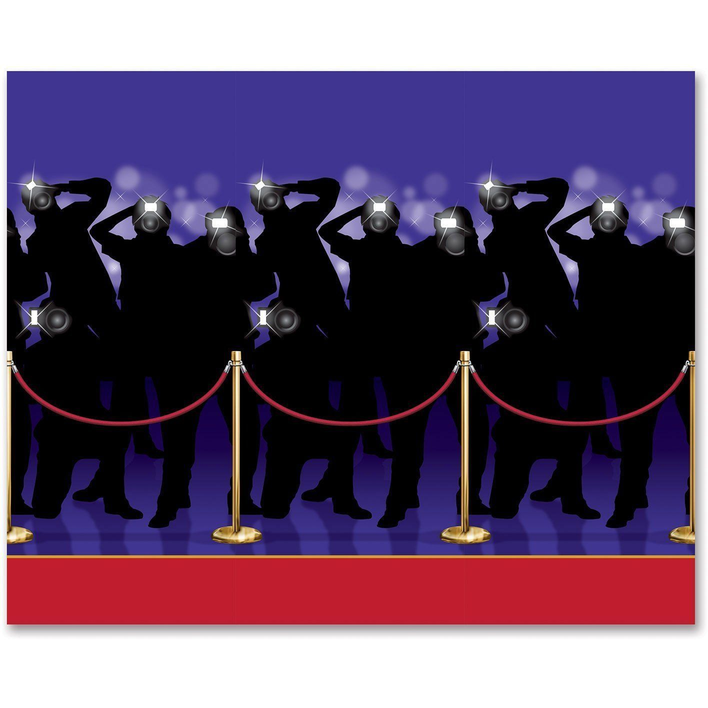Hollywood Star Walk Party Scene Setter Backdrop Room Roll Wall Decoration