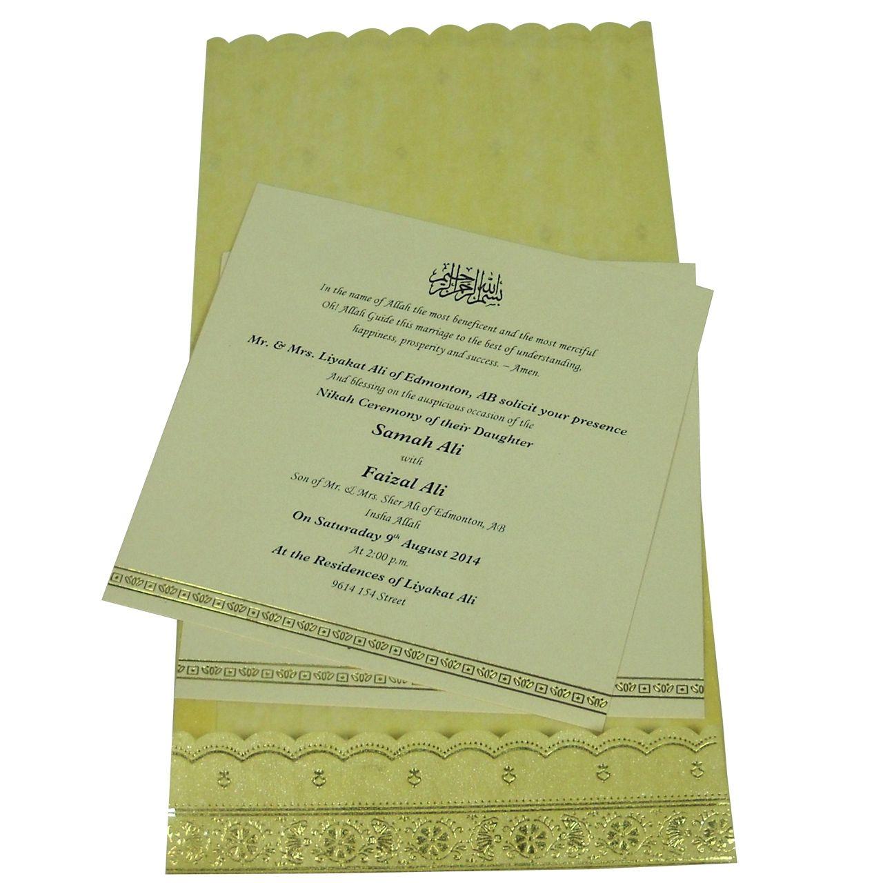 Muslim Wedding Cards Online Indian Wedding Cards Pinterest