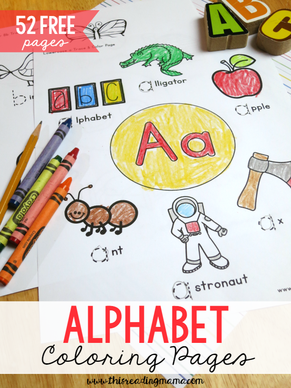 52 FREE Alphabet Coloring Pages For Upper And Lowercase Letters Great Handwriting Too