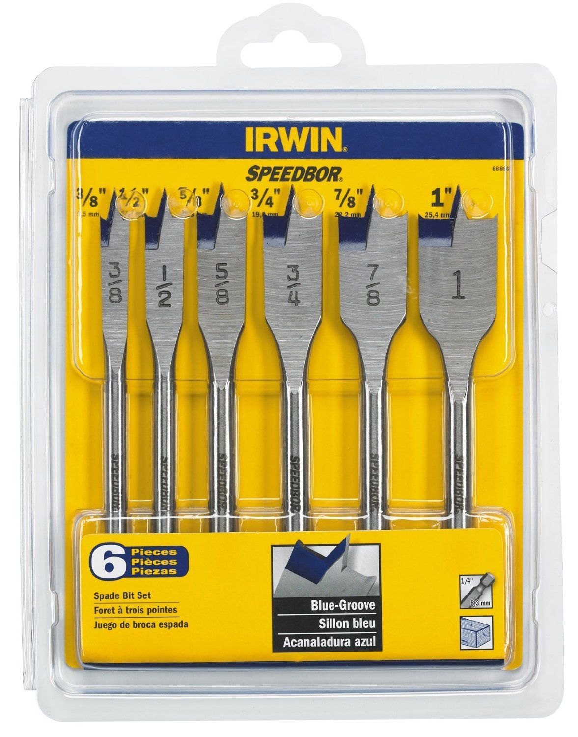 Irwin Tools 88886 Speedbor Blue Groove Spade Bit Set 6piece Proceed To The Item At The Picture Link This Is An Affil Irwin Tools Drill Bit Sets Drill Bits