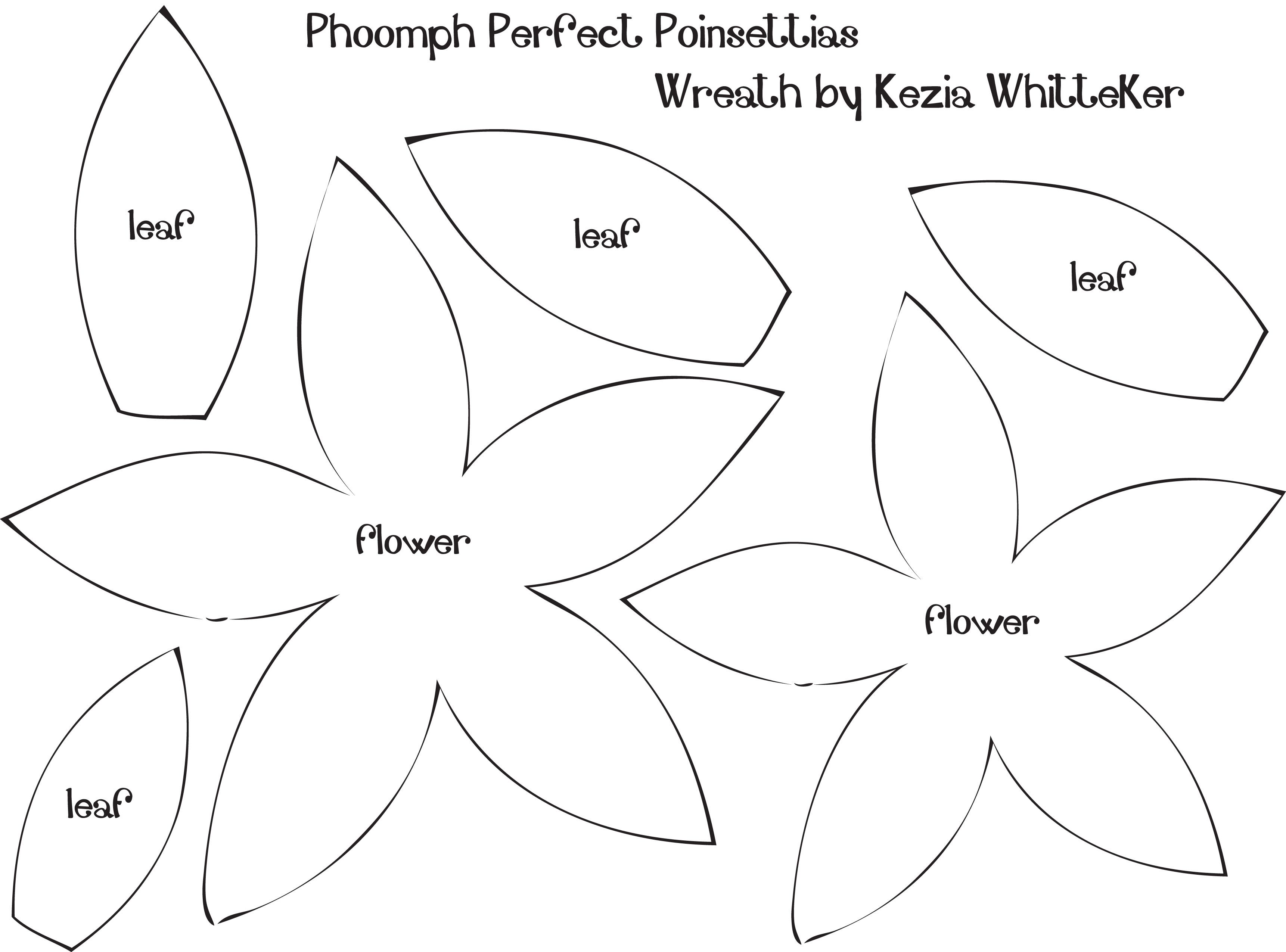 Poinsettialeafpatterntemplate grinchy christmas pinterest 9 best images of poinsettia flower template printable paper poinsettia petal template flower shape cut out template and template for felt poinsettia pronofoot35fo Images