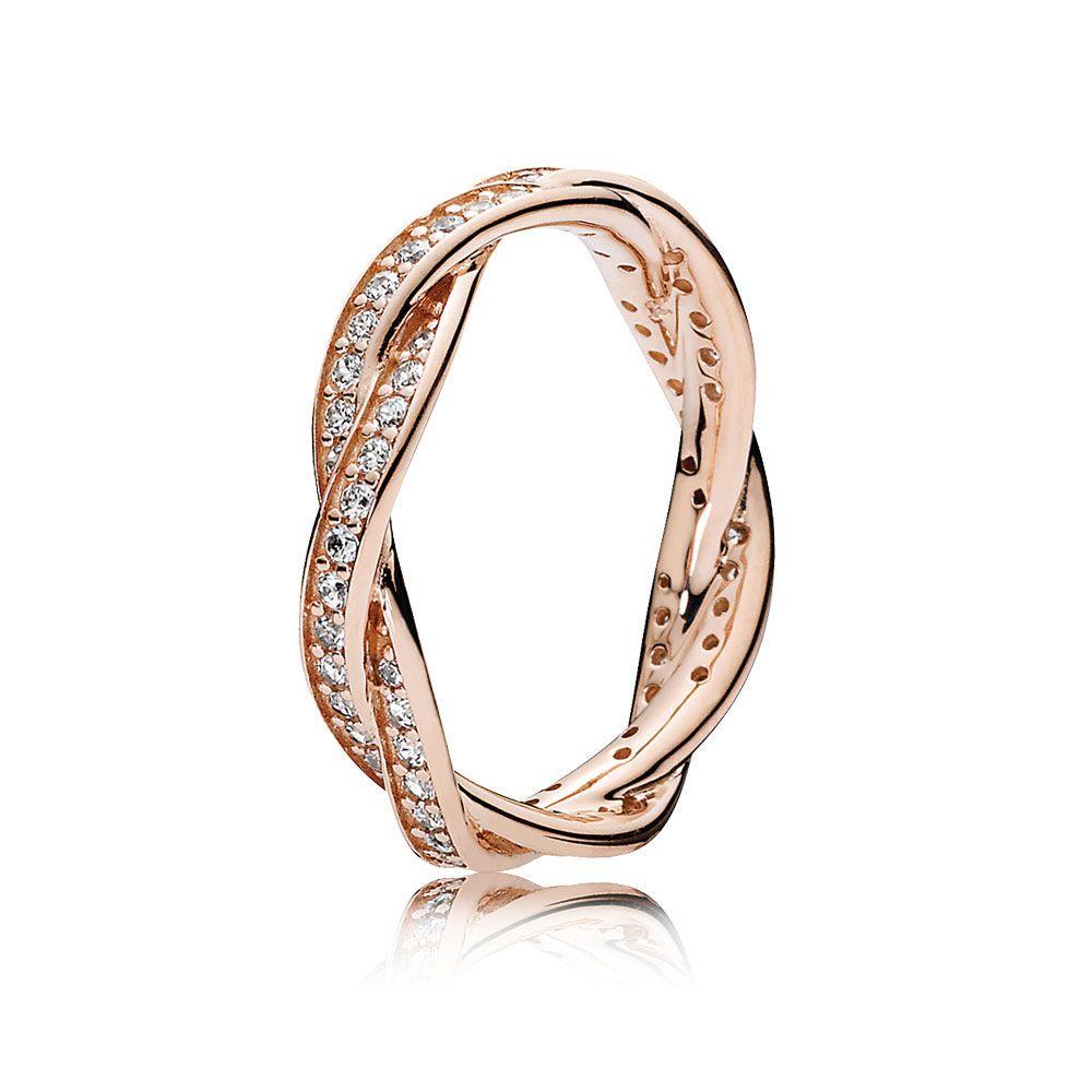 Twist of fate ring pandora rose u clear cz pandora jewelry us
