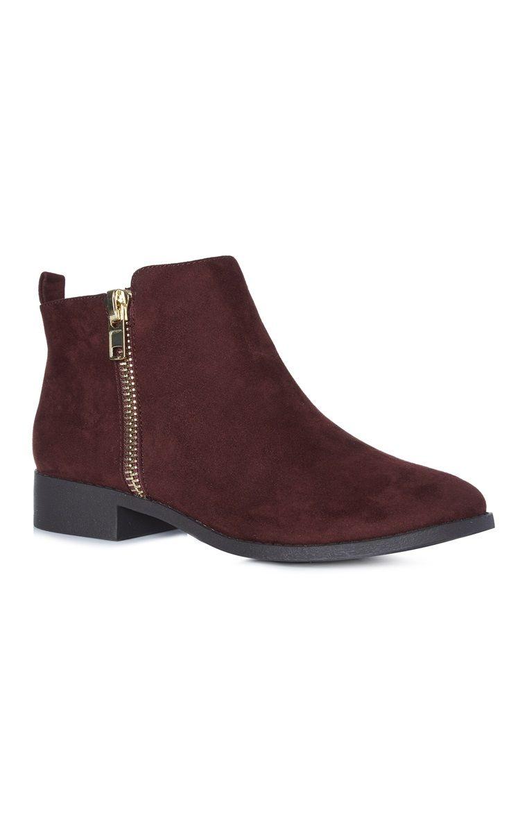 tienda primera vista servicio duradero Primark - Botines color burdeos con cremallera | shoes ...