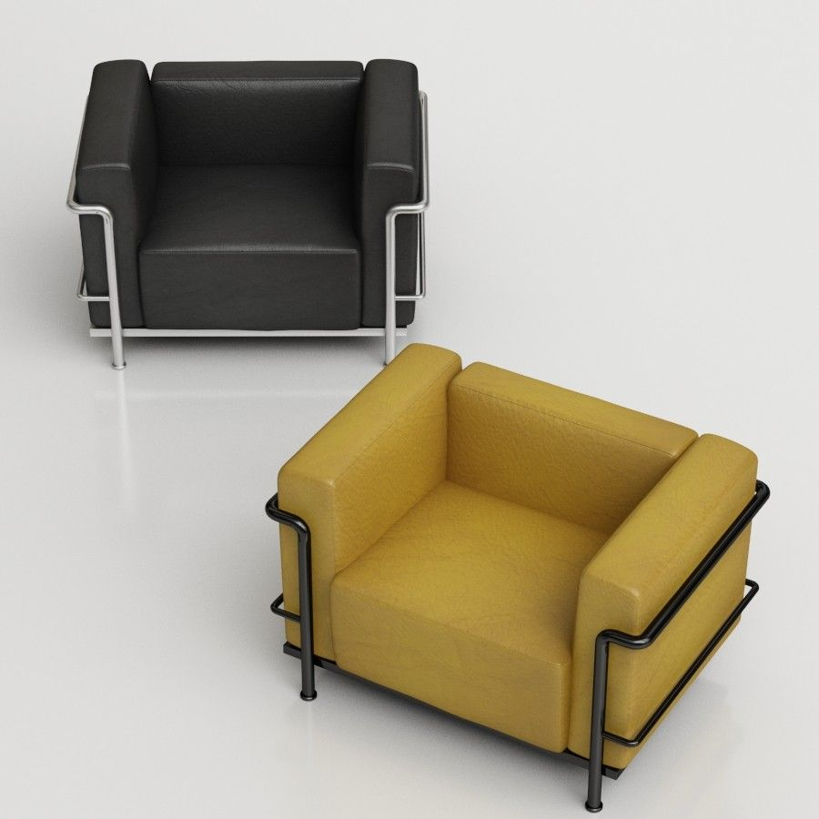 LC3 Le Corbusier Armchair 3d model Cassina Files: max2009