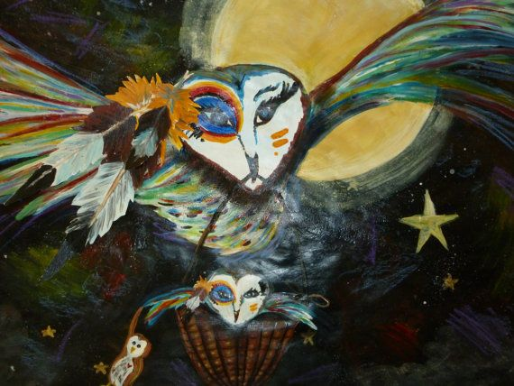 Spirit Owl dream journey by EnserCreations on Etsy, $150.00