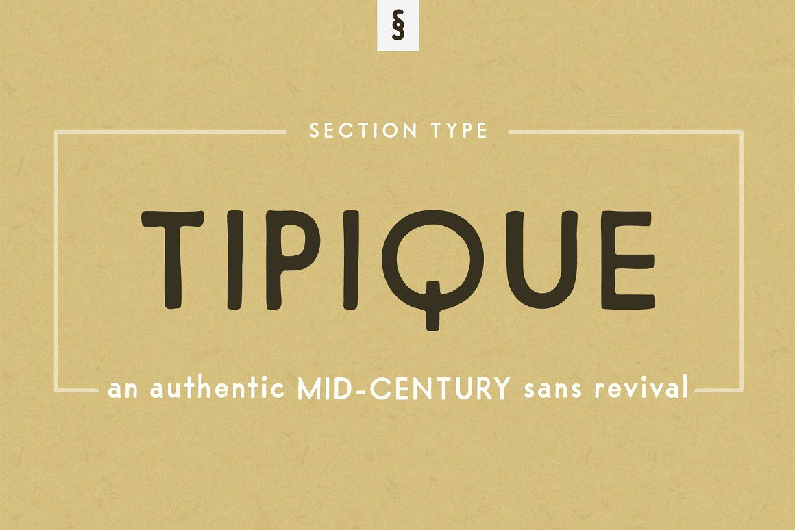 Tipique Mid Century Font Revival Lettering Uppercase And Lowercase Letters Mid Century