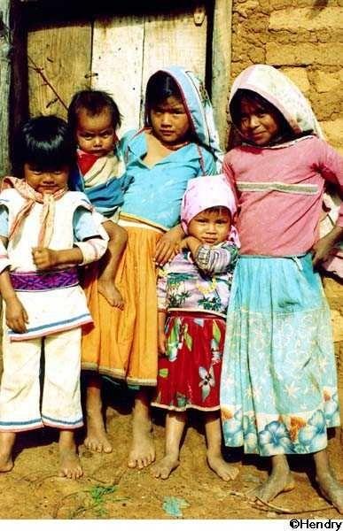 Huichol children