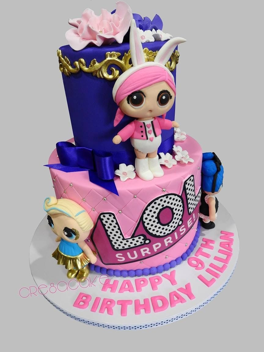 Lol Surprise Dolls Birthday Cake With Images Lol Doll Cake