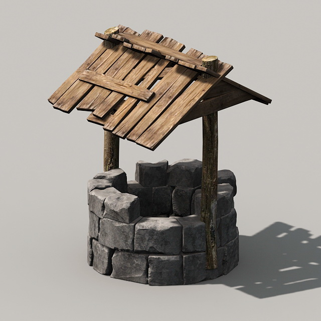Old Water Well 3d model 3ds Max files free download