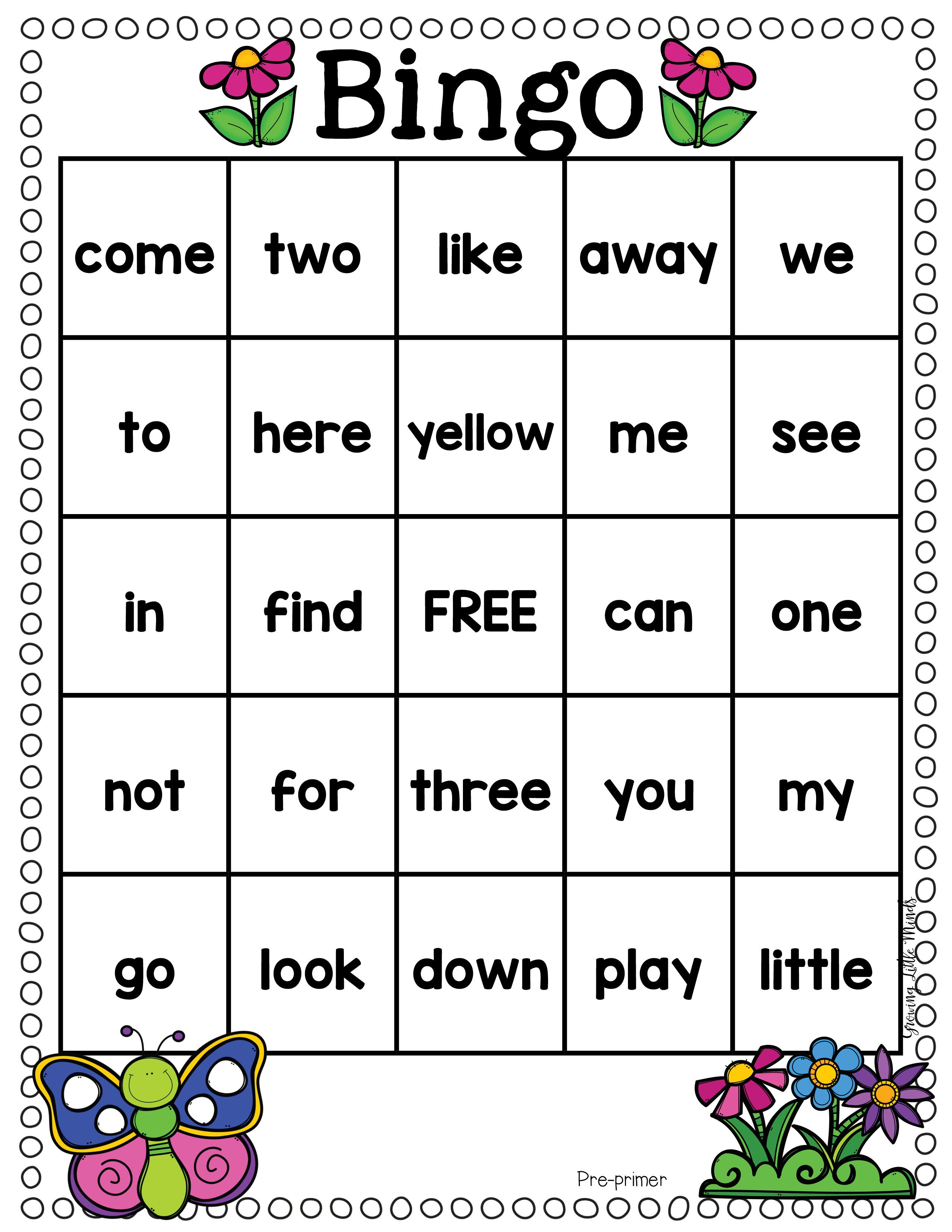 Spring Dolch Sight Word Games- Fillable to add your own list