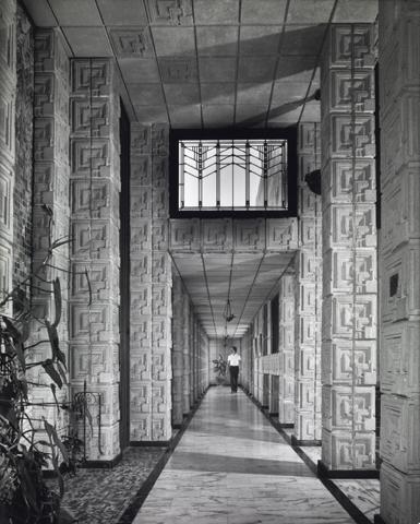 Charles Ennis House. Frank Lloyd Wright. Textile Block Period. 1924. Los Angeles, California