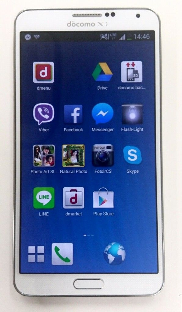 Docomo phone Samsung Galaxy Note 3 for use in Japan and Philippines
