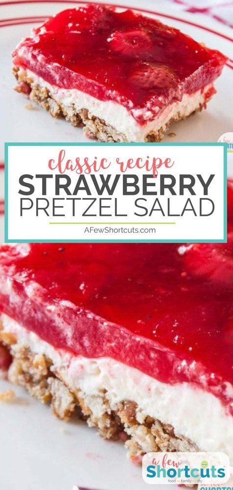 Strawberry Pretzel Salad #cookiesalad