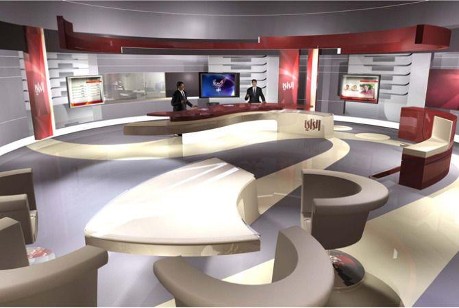 Al Rai TV, News Studio, Kuwait - FLINT SKALLEN