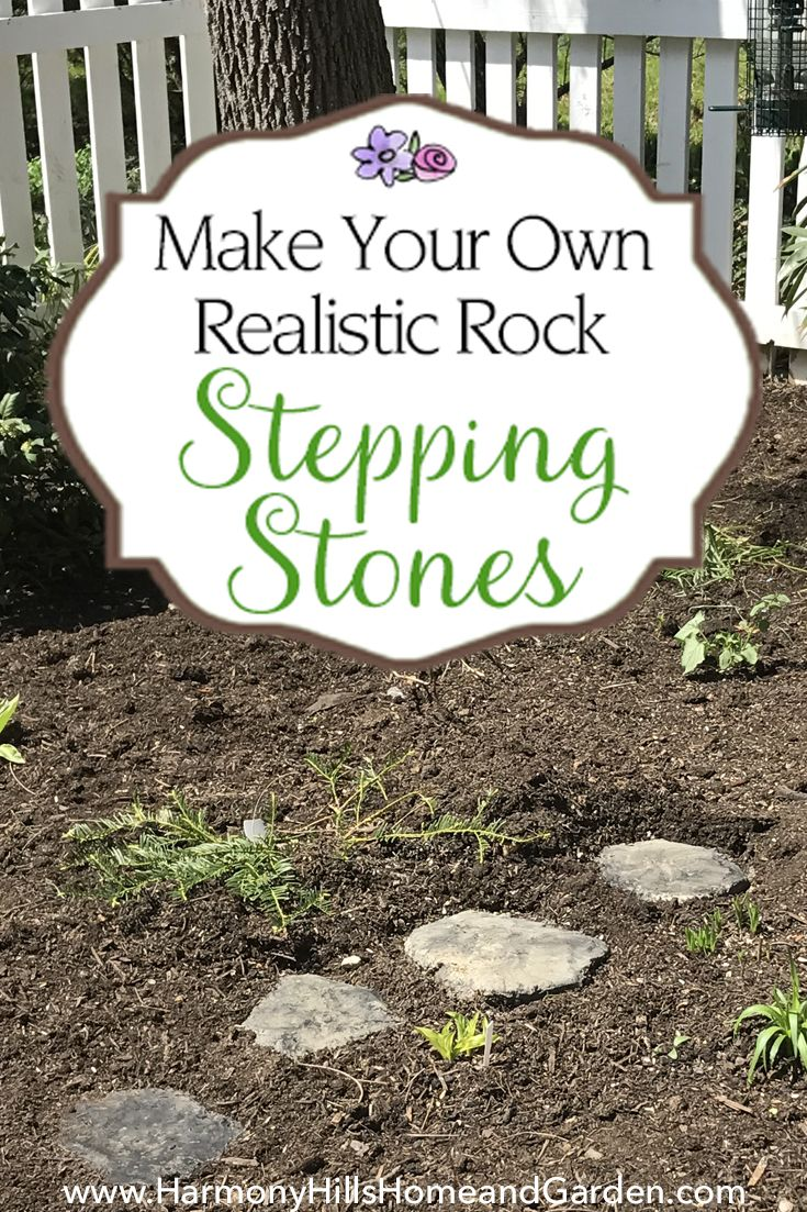 Make Realistic Rock Stepping Stones