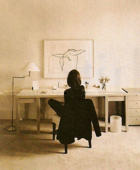 Lee Radziwill In Her Paris Apartment Simple Office
