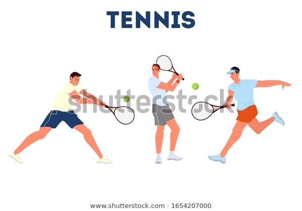 Tennis Player Holding Racket On Tennis Stock Vector Royalty Free 1654207000 In 2020 Tennis Players Players Tennis