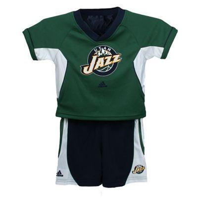 pretty nice 2a788 645d9 Utah Jazz Raglan Toddler Crewneck T-shirt and Shorts Set ...