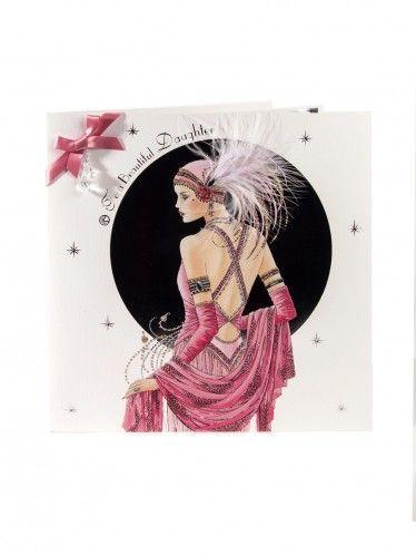 Deco Daughter Birthday Card Cards Clintons Art Deco Women