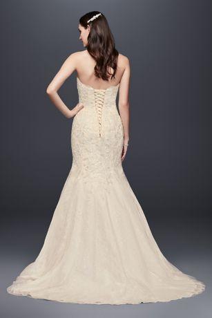 corset back beaded lace mermaid wedding dress style wg3909