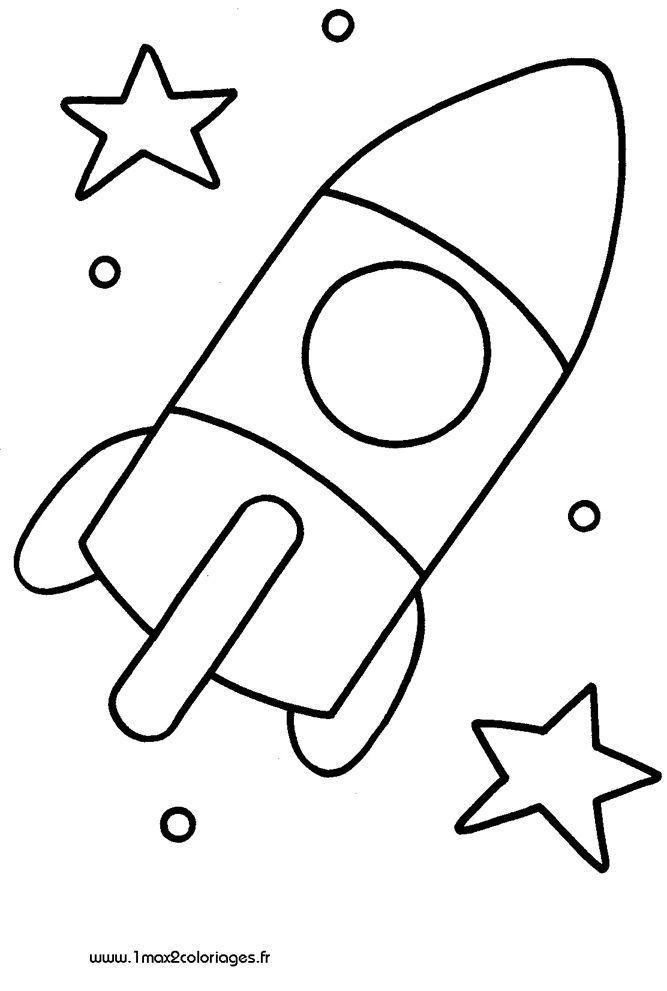 Malvorlagen Kleine Rakete Geht Bis Zum Mond Handwerksraum Einfache Niedliche Zeichnungen Kunstprojekt Fur Kinder