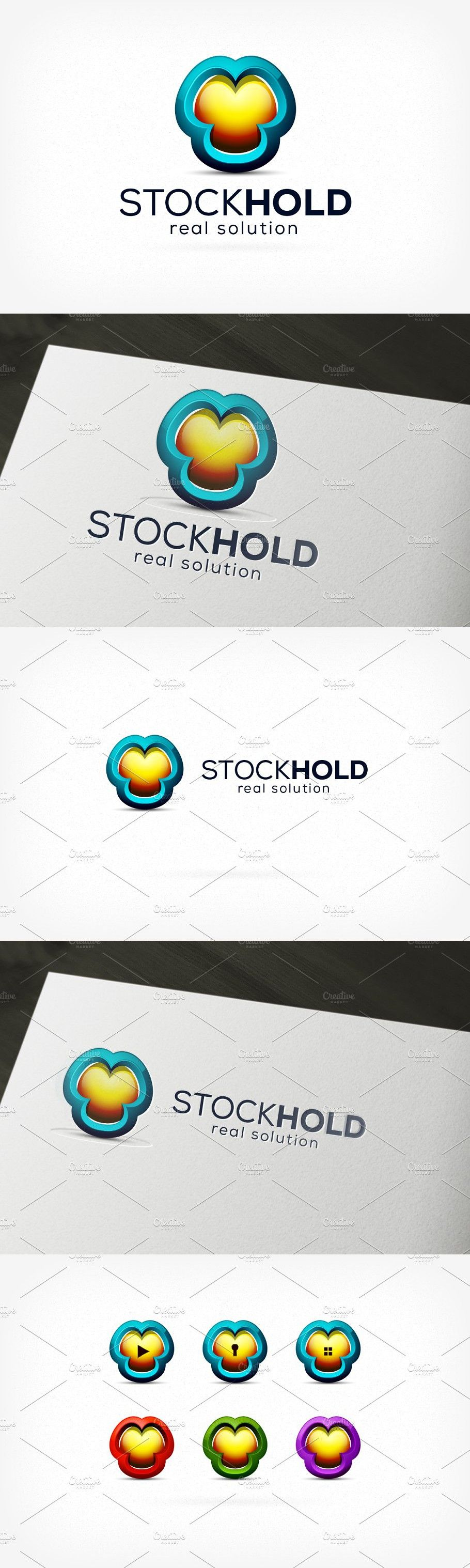 3D Stock Hold Logo in 2020 Logos, Print, Company names