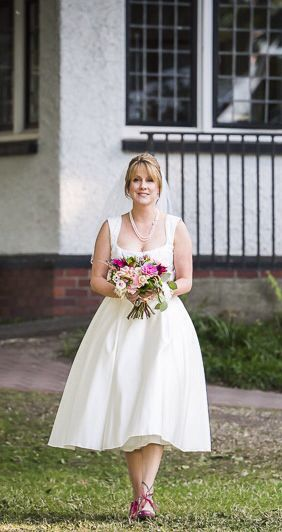 After wedding dress picture