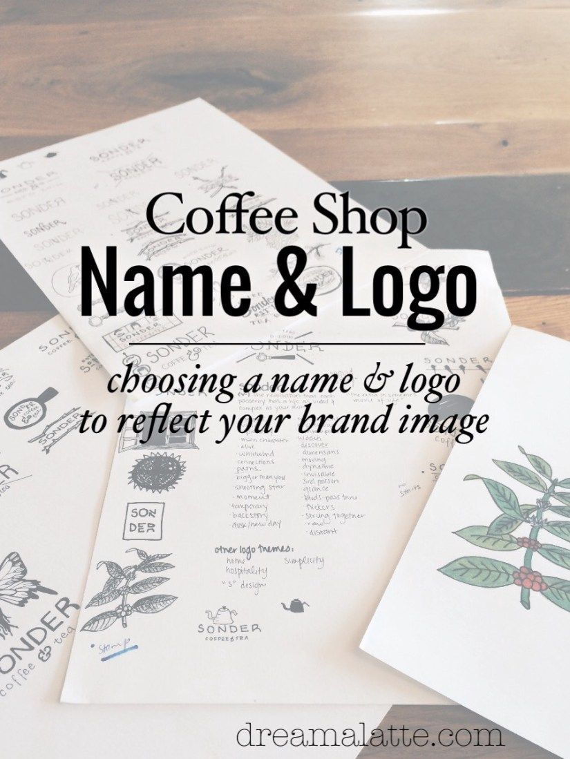 Choosing A Coffee Shop Name Logo Dream A Latte Coffee Shop Names Coffee Shop Coffee Shop Business Plan