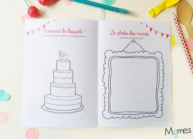 le livret de coloriages et jeux pour enfant un mariage fl te des mari e pinterest. Black Bedroom Furniture Sets. Home Design Ideas