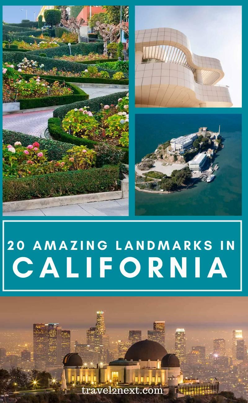 20 Incredible Landmarks in California. Renowned for its glitz and glamour, scenic landscapes and top attractions, California is just bursting with things to see and do. #california #usa #travel
