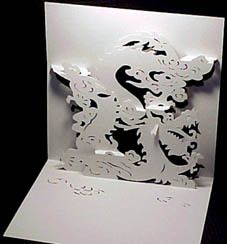 Gabarit Gratuit Dragon 2 à 90 Crafts Paper