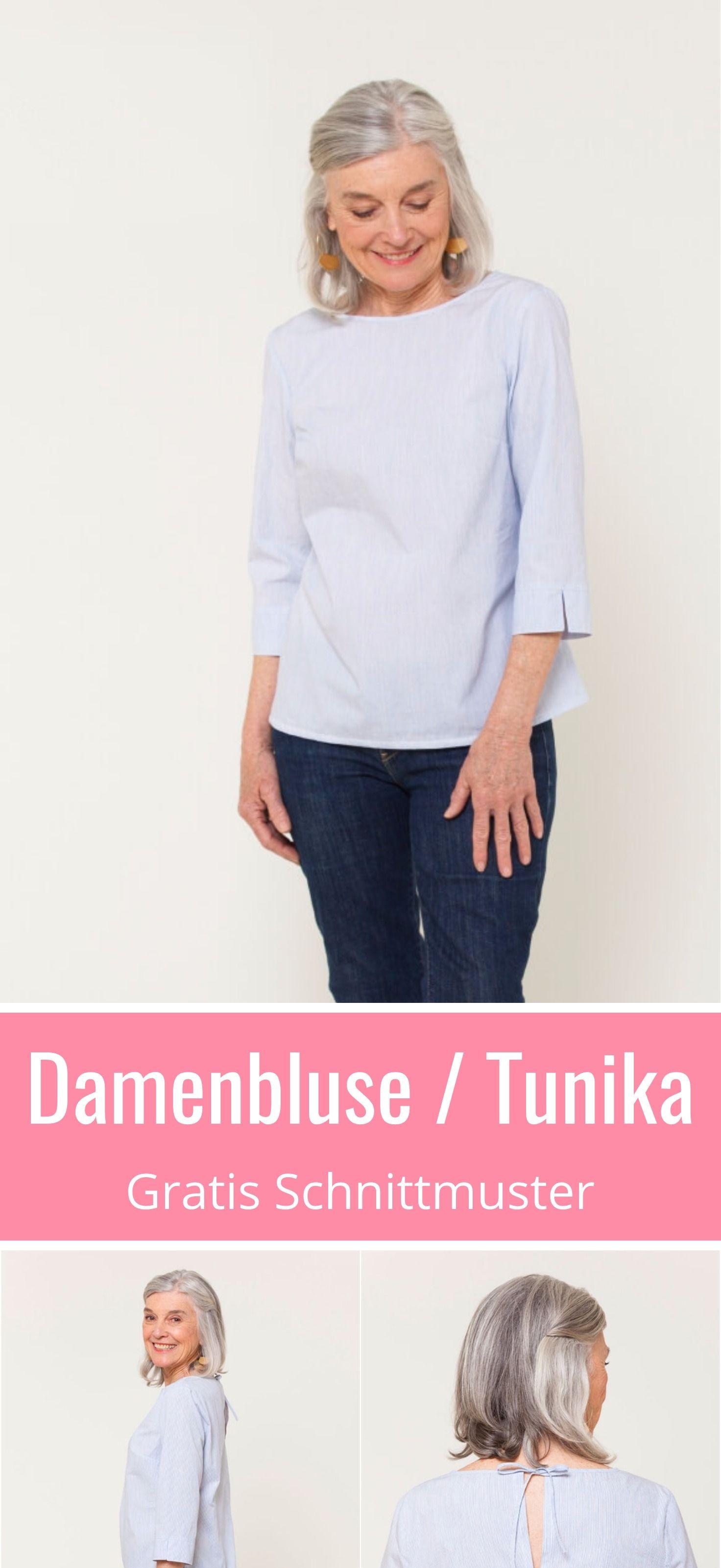 Gratis Schnittmuster für eine hübsche Damenbluse oder Tunika.Viele schöne Details. Grösse XS - XXL. Mit ausführliche Anleitung zum Nähen. in XS - XXL. ✂ Nähtalente.de - Magazin für Hobbyschneider ✂ Free Sewing Pattern for a woman blouse or tunic in size XS - XL. Many lovely details and a great sewing tutorial. ✂ #nähen#freebook#schnittmuster#gratis#nähenmachtglücklich#freesewingpattern#handmade#diy