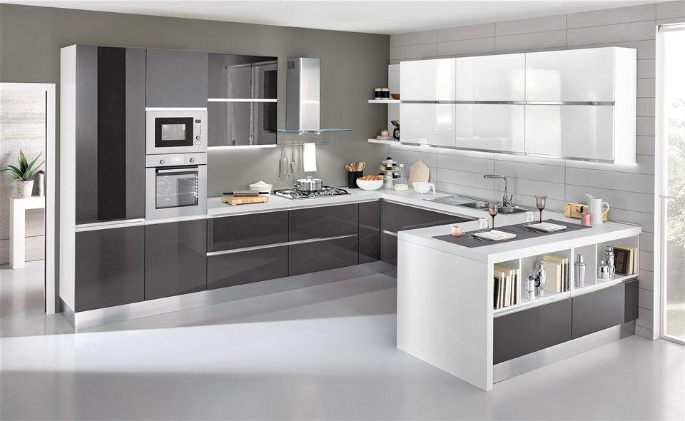 Cucina grigia e bianca: una scelta di stile | Moderní kuchyně ...