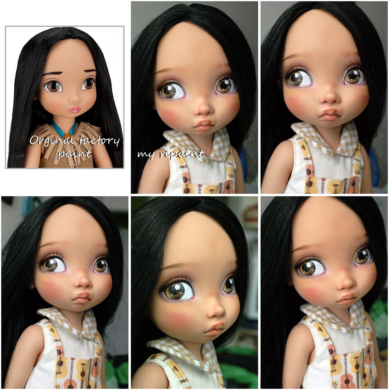 Disney Cindy Toddler Doll H15: Disney Animators Collection Pocahontas Repaint By Kamarza